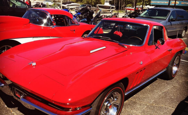 A Perfect Sunday Ride…And These Two Kick A** Vettes.